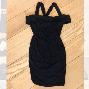 BNWT ASOS black off shoulder dress -6